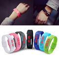 1pc women men student sports lovers'watch clock gift Classic Screen Rubber Bangle LED digital Wristband Watch fashion casual H5
