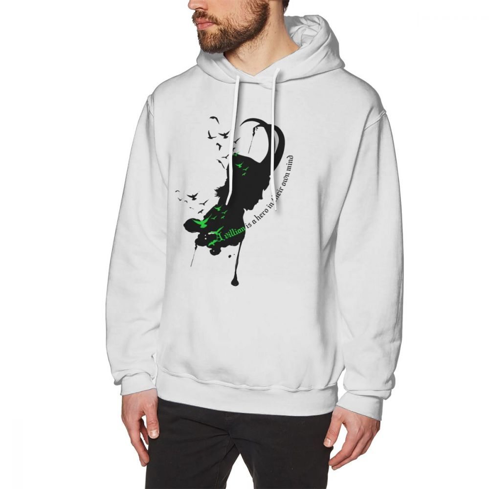 The Walking Dead Hoodie A Villian Is A Hero Hoodies Winter Male Pullover Hoodie Cotton Outdoor Long Over Size White Hoodies