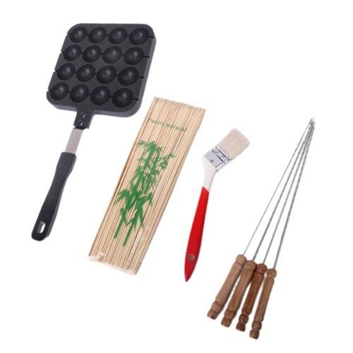TFBC 16 forms takoyaki Mould with handle Black