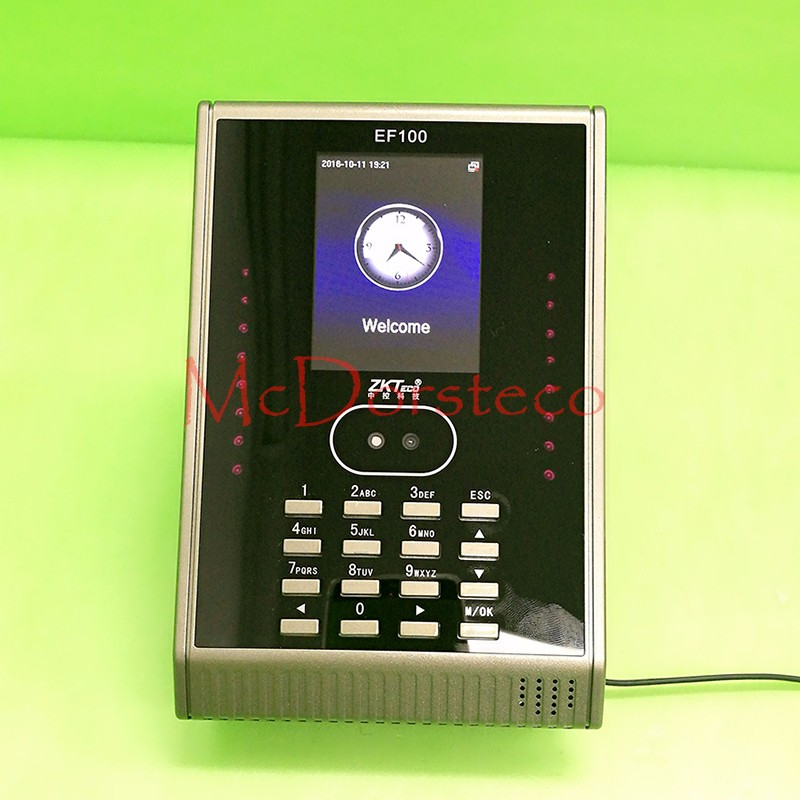 New tcp/ip ZK Face time attendance time System free Software Cheap Face and password Time clock EF100 zk iface701 face and rfid card time attendance tcp ip linux system biometric facial door access controller system with battery