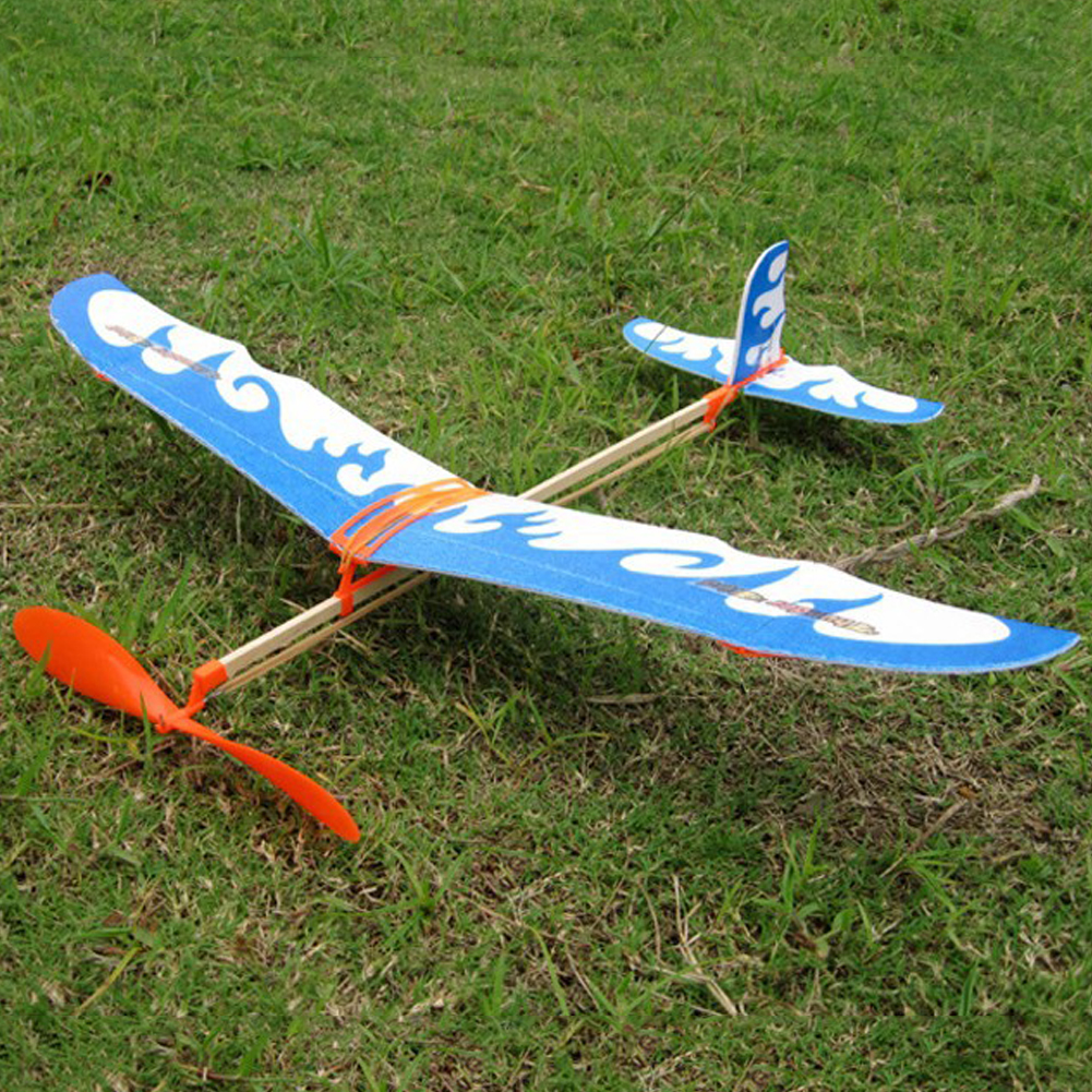 Rubber Band Airplane Paper Jet Glider Model Airplane Boy