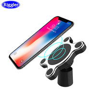 Magnetic Car Wireless Charger Riggler 10W Fast Charging Mount Stand for iphone XS MAX XR X 8 Plus Samsung S9 Note 9 Phone Holder