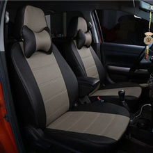 Custom leather car seat cover For PEUGEOT 205 206 207 208 306 307 308 309 405 406 407 408 505 508 styling accessories