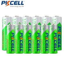 6 adet PKCELL pil AA Ni MH şarj edilebilir pil 1.2V 2200mAh piller + 6 adet 850mah AAA NiMH şarj edilebilir piller için kamera