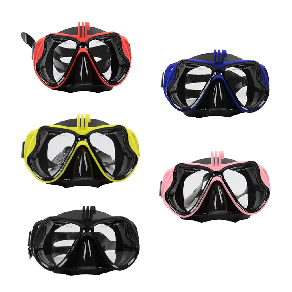 Adult Scuba Diving Mask -Tempered Glasses Snorkeling Goggles Snorkel Scuba Diving Equipment Camera Holder For Go Pro
