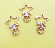 Hot Sale Pentagram 24X34MM  High Quality Zinc Alloy Carabiner Swivel Clasps For Key Ring & Key Chain Rose Gold  Tone