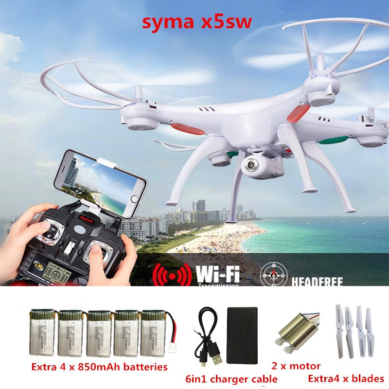 SYMA X5SW RC Drones With Camera WIFI FPV Drone Real-time 2.4G 4CH RC Helicopter Quadcopter Toy (X5C X5SC Upgrade) VS H31 H501S блуза mango kids mango kids ma018egwir66