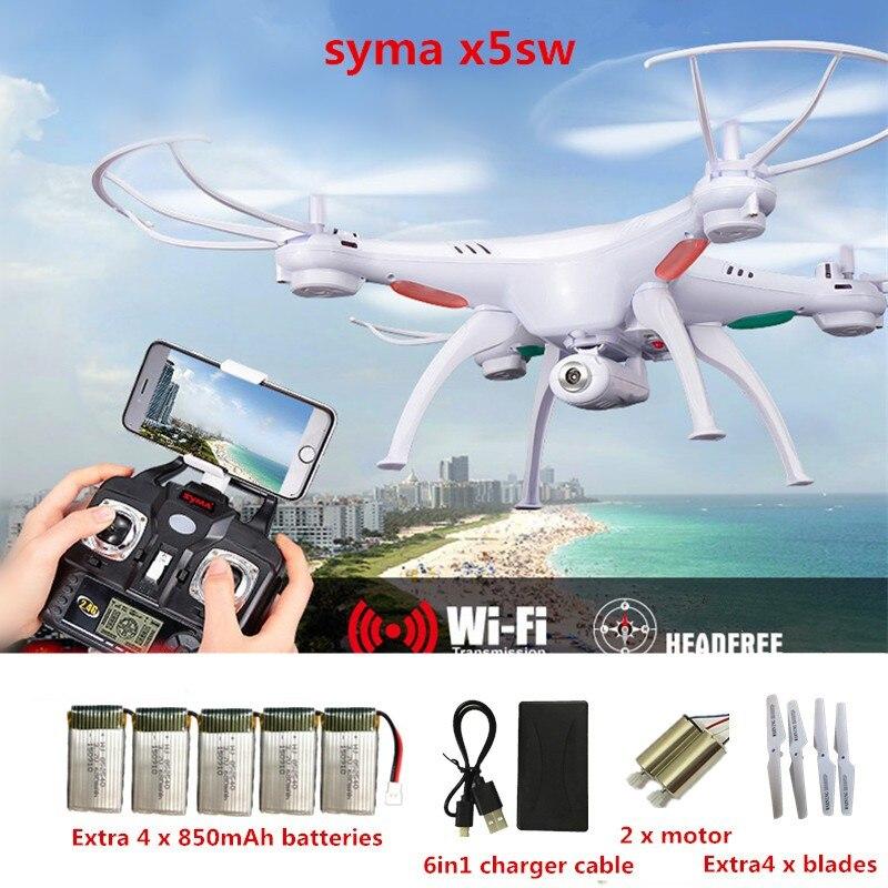 SYMA x5sw RC Дроны с Камера WI-FI FPV-системы беспилотников в режиме реального времени 2.4 г 4ch вертолет Quadcopter игрушки (x5c x5sc обновление) VS H31 h501s