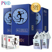 MIO Small Condoms size for Men 49mm spike dotted Condom Delay Ejaculation Big Particle Stimulation Ultra Thin Sex Toys Products