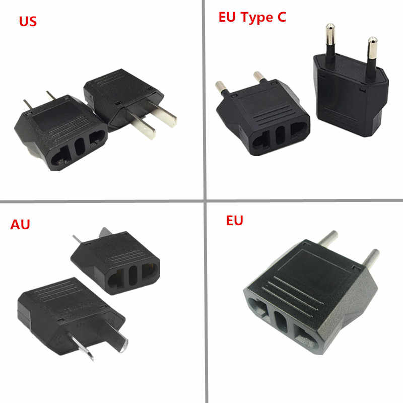 Europejska ue, usa, AU Adapter wtyczki amerykański chiny japonia usa do ue Euro Adapter podróżny konwerter AC ładowarka gniazda wylot
