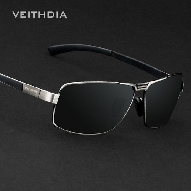 Luxury Famous Polarized Men's Driving Sunglasses High Quality Fashion Outdoor Sports Veithdia Sun Glasses Male Dark Glasses p111