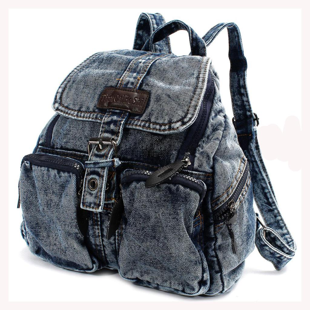 TEXU Women backpack vintage Denim backpacks for teenage girls casual school campus bags travel backpack women bag hot sale women backpacks for girl teenagers vintage denim bags backpack school bag pack travel bag feminina knapsack