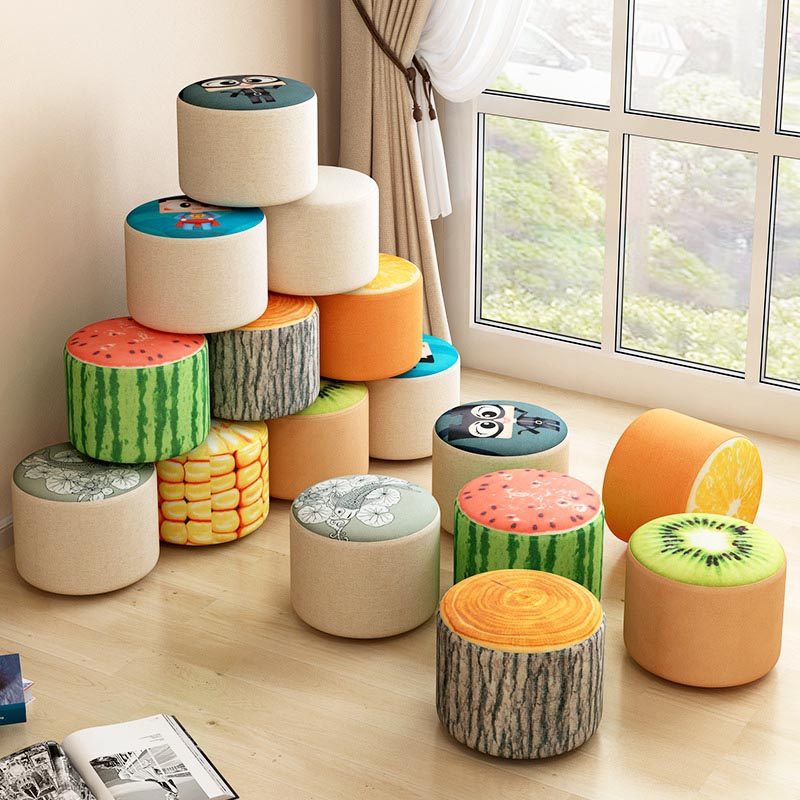 Fashion creative bench Household fruit stools Solid wood sofa stool Bedroom Living Room fabric stool Home Furniture fashion creative bench household fruit stools solid wood sofa stool bedroom living room fabric stool home furniture
