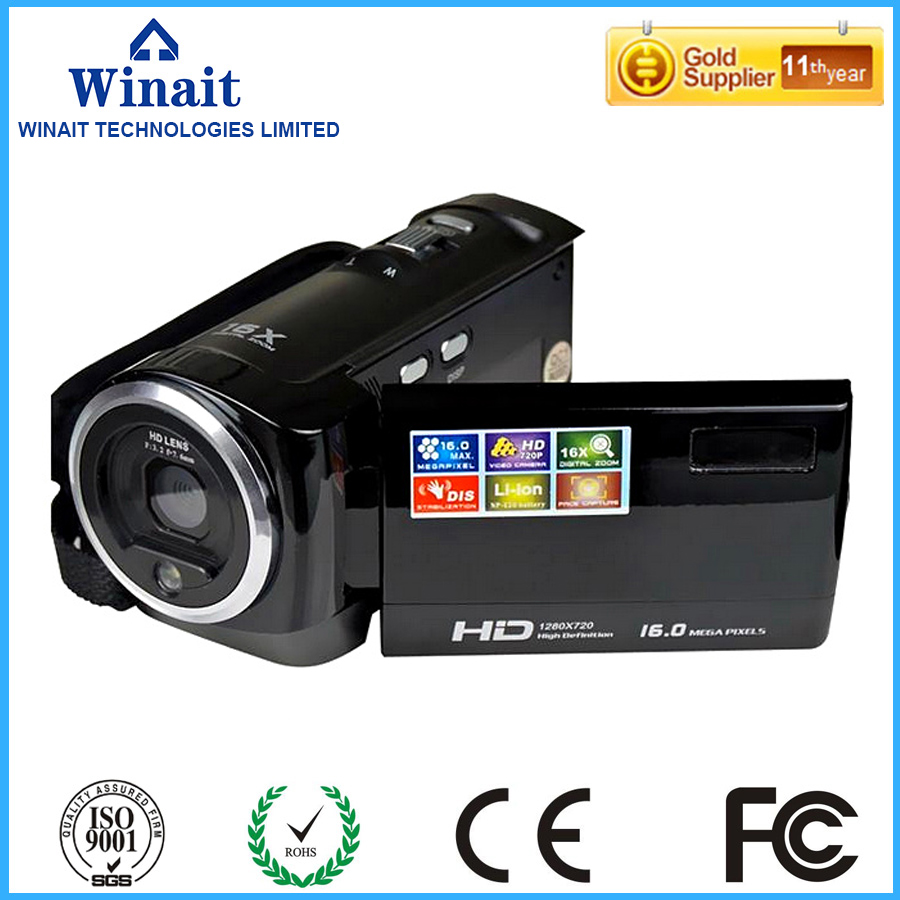 Freeshipping 16mp 720p hd digital video camera 16X digital zoom 10s self timer foto camera font