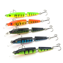 Купить с кэшбэком 1Pcs 105mm 10g Fishing Lure Hooks Baits Assorted Hard Fake Fish Bait Minnow Aritificial Wobblers Crankbait Pike Lures Swimbait