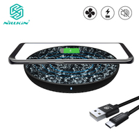15W Fast Wireless Charger Cooling Fan Nillkin Qi Fast Wireless Charging Pad Nylon for iPhone X XR For Samsung S10/S9/Note 8 Mi 9