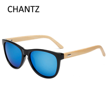 купить 2016 New vintage wooden sunglasses women men natural bamboo sun glasses round uv400 mirror shades lentes de sol mujer hombre по цене 298.6 рублей