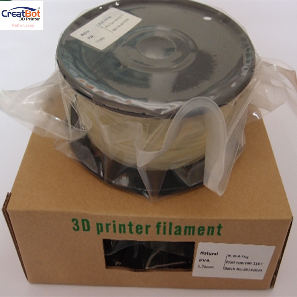ФОТО 3D printer filament PVA water soluble filament 1.75mm / 3.00mm plastic filament for 3d printer 500g / roll