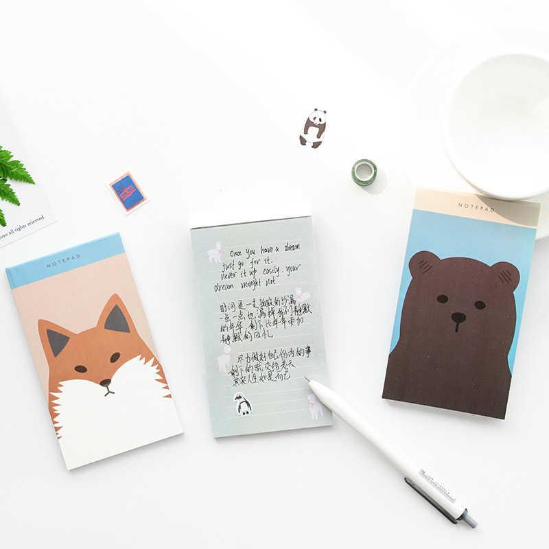 DL מצוירת כתיבה דרום קוריאה תכנית שבועית נוח תכנית היום מדבקת הערה מדבקת נייר מכתבים למשרד יכול להיות מותאם אישית