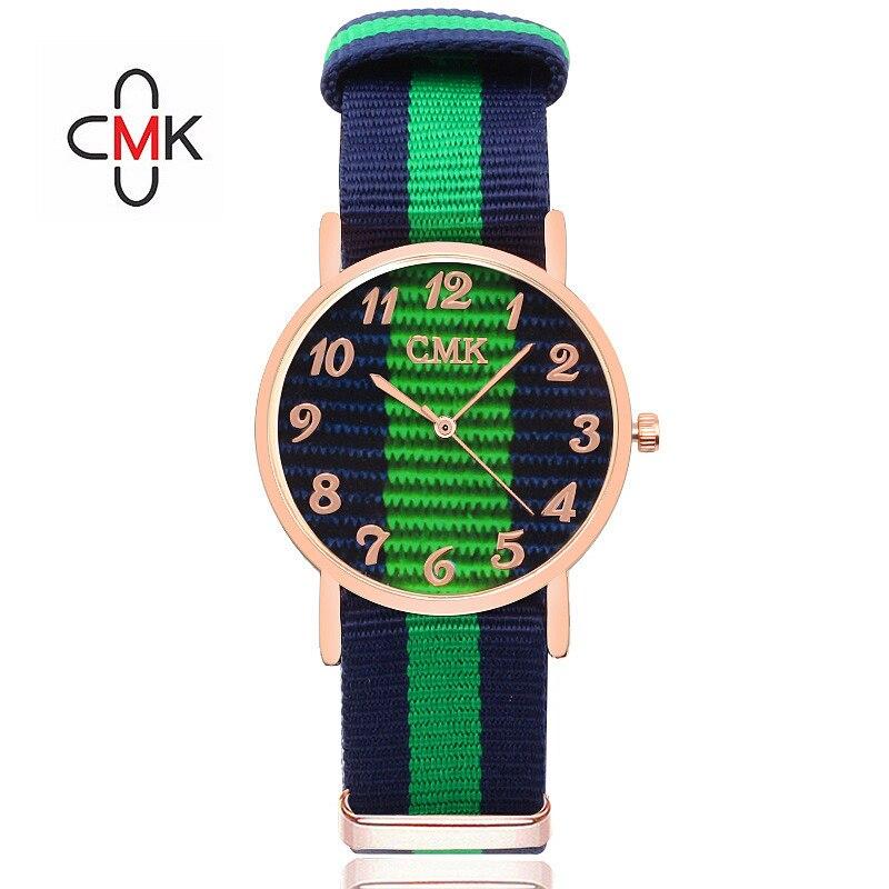 CMK Luxury Sport Men Quartz Watch Casual Multicolor Nylon strap Man Women Watches Couple Wristwatches 8 Color Clock Reloj Mujer