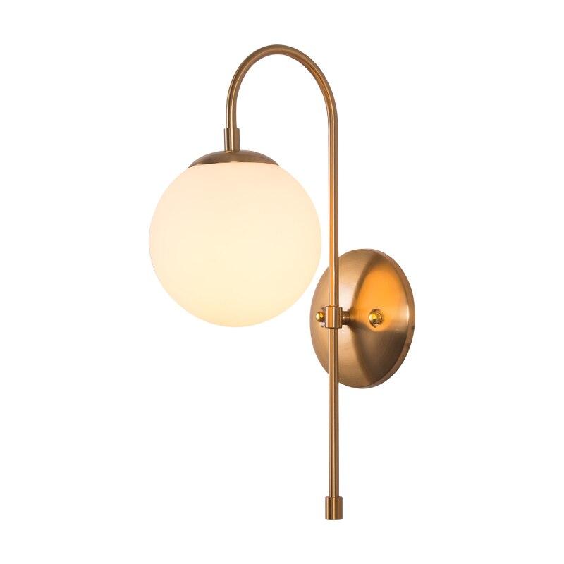Moderne or Loft cintrage verre mur LED lampe cuisine chambre couloir salon TV applique Luminaire luminaires toilette lumière