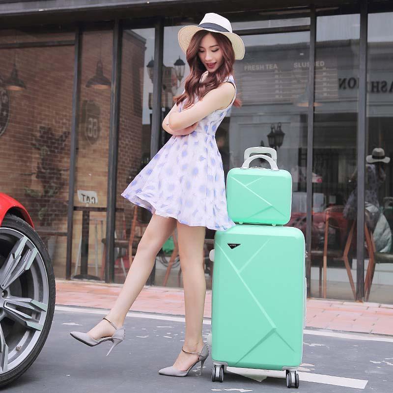LeTrend toczenia walizki na bagaż Spinner studentów hasło walizka koła 20 cal koreańska wersja przenoszenia na torba podróżna na kółkach bagażnika w Walizki od Bagaże i torby na  Grupa 3