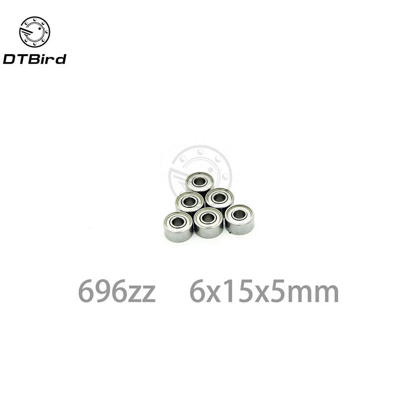 ABEC-5 30pcs 696ZZ 696 ZZ 6x15x5mm Mini Ball Bearing Miniature Bearing Deep Groove Ball Bearing Brand New 6*15*5 MM 30pcs lot f623zz f623 zz 3x10x4mm flange bearing deep groove ball radial ball bearing brand new