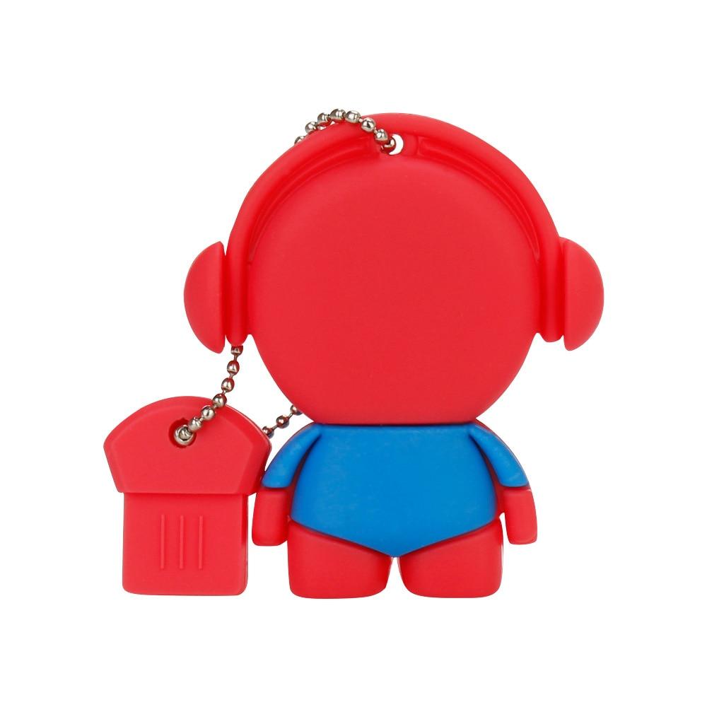 Image 4 - Персональный подарок с мультипликационным музыкальным персонажем, большая емкость, usb флеш накопитель, 4 ГБ, 8 ГБ, 16 ГБ, 32 ГБ, 64 ГБ, u диск, флеш накопитель-in USB флэш-накопители from Компьютер и офис