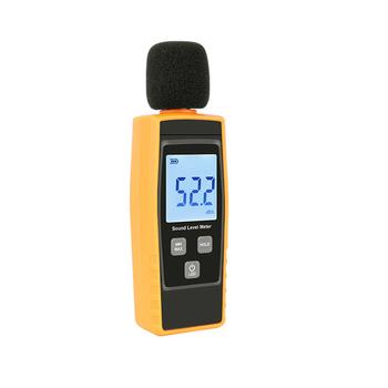 Cyfrowy miernik poziomu dźwięku wskaźnik DB mierniki tester hałasu w decybelach ekran LCD nowy RZ1359 tanie i dobre opinie lansl Latest 10cm ABS Plastic Analizatory emisji 0 3kg