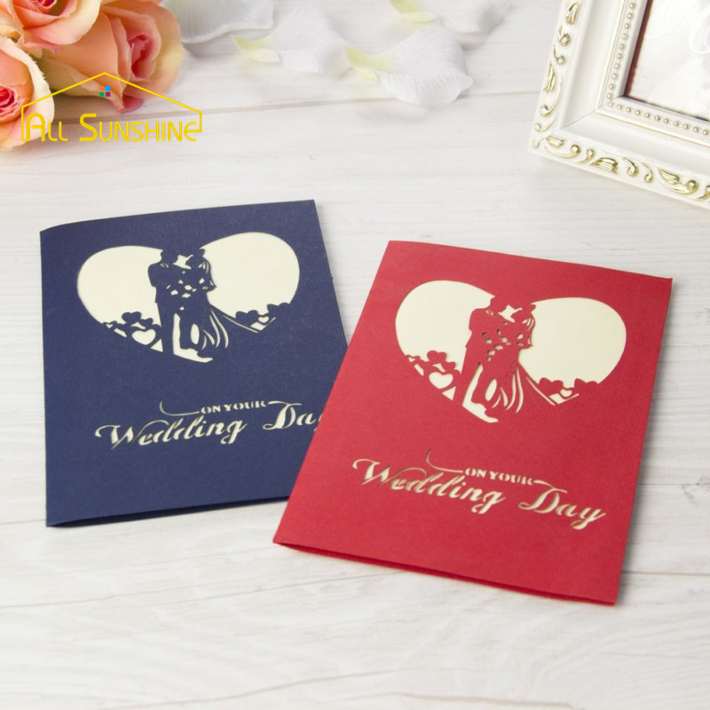 3D Pop up Cards Happy Lovers Greetings Cards Wedding Invitation ...