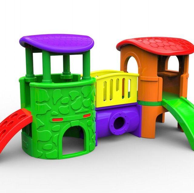 Baby combined slide indoor playground kids plastic for Indoor play slide