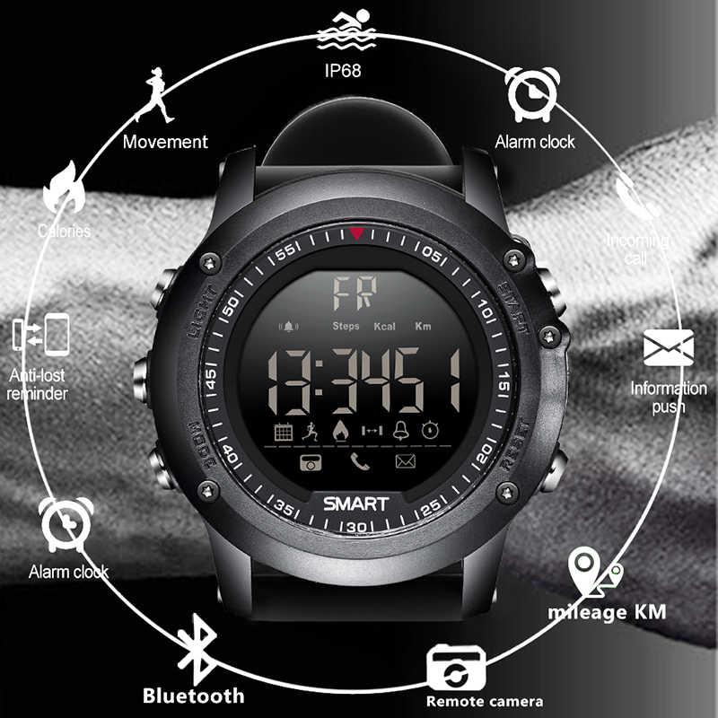 LIGE Sport Smart Watch Men Multifunction Digital Clock Bluetooth Pedometer IP68 Waterproof Smart Electronic Watch Relogios