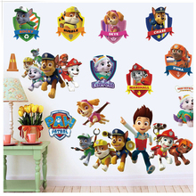 Cartoon Dogs Paw Patrol Minecraft 3D Wall Stickers For Kids Rooms Pets Dogs Stickers For Home Decor Living Room Wall Sticker