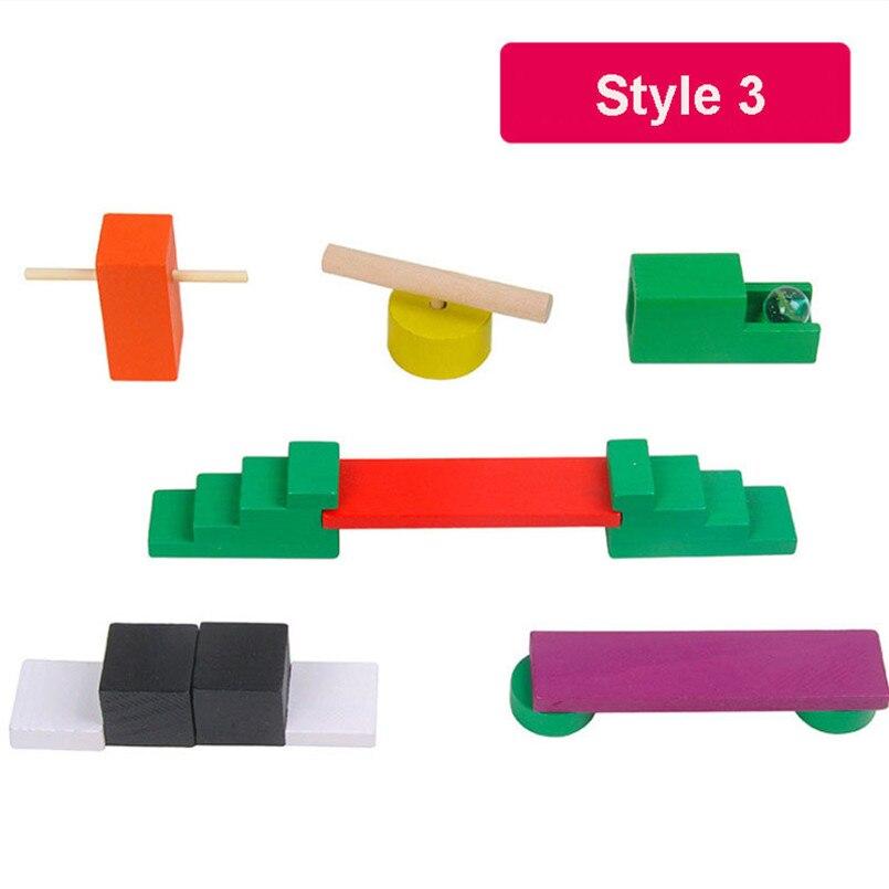 120 шт./компл. детей деревянное домино учреждения аксессуары головоломки игрушки домино интерактивная игра Органы блокирует обучение детские игрушки - Цвет: Style 3