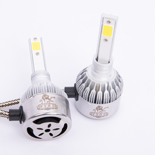 цена на 2pcs H 1 C6 12V Headlamp bulb fog lamp 7200LM 6000-6500k cob Car headlamp LED head lights white adopts high-quality