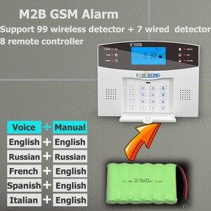 Image 5 - Wireless GSM Alarm System 433MHz Home Burglar Security Alarm Door sensor motion sensor alarms Android IOS APP Intercom Siren