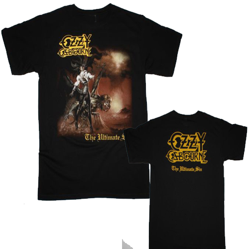 BLACK SABBATH   T     shirt   men two sides OZZY OSBOURNE THE ULTIMATE SIN'86 gift Casual tee USA size S-3XL
