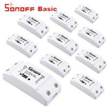 Sonoff enchufe Universal con Wifi para casa inteligente Módulo de automatización con temporizador, mando a distancia Diy para iphone e ios, 12 Uds.