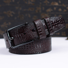 Leather Men Belts Fake Crocodile Skin Male Strap High Quality Cow Leather Fashion Men Waistband Brand Belt for Men