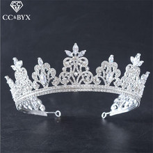 CC Jewelry crowns tiaras bride crystal luxury wedding hair accessories for women party bridesmais handmade bijoux brand HG773