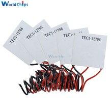 50 قطعة/الوحدة TEC1 12706 12706 TEC بلتييه مبرد حراري كهربائي 12 فولت جديد من أشباه الموصلات التبريد TEC1 12706 بلتييه Elemente