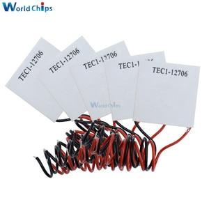 Image 1 - 50 개/몫 TEC1 12706 12706 tec 열전기 냉각기 펠티어 12 v 반도체 냉동 TEC1 12706 펠티어 엘리멘트의 새로운 기능