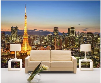 Custom Photo Mural 3d Wallpaper Paris Night View Of The Famous Paris Tower Home Decor Living Room Wallpaper For Walls 3 D Buy At The Price Of 16 07 In Aliexpress Com Imall Com