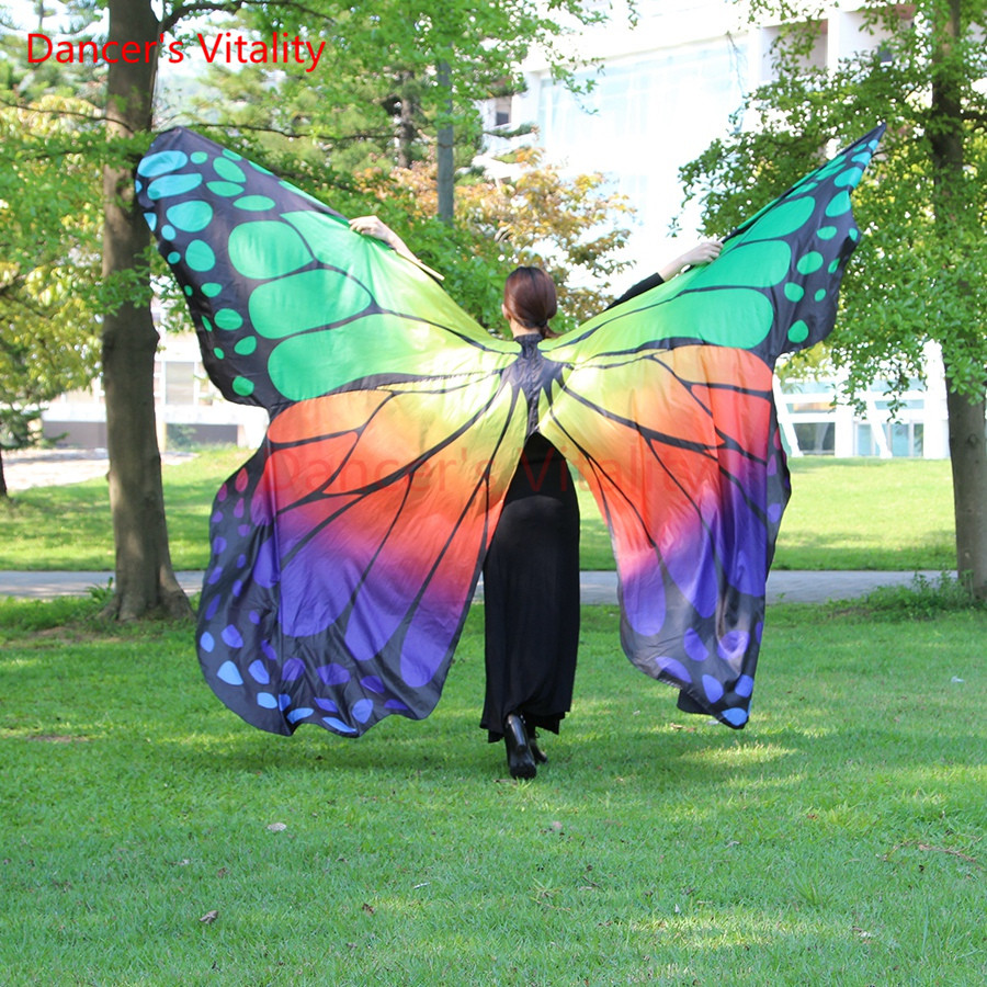 Dancer s Vitality Showy Butterfly Wing for Dancing Belly Dance Isis Wings BellyDance prop with sticks