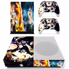 Anime Fairy Tail Skin Sticker For Microsoft Xbox One S Console and 2 Controllers For Xbox One S Skins Stickers Vinyl