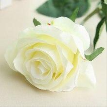 c0d5a47ff8d43c 1 pc jedwab róże sztuczne kwiaty ślub dekoracja fałszywe kwiaty biały  niebieski zielony różowy czerwony fioletowy