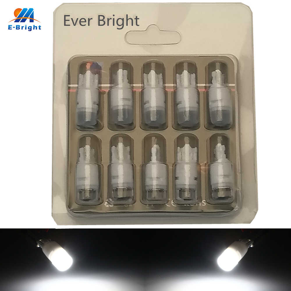 YM E-Bright 10 PCS T10 W5W 3030 2 SMD Car Led Light Ceramics 194 168 Auto Bulbs 12V DC White Blue Yellow Red Green 120Lm Lens