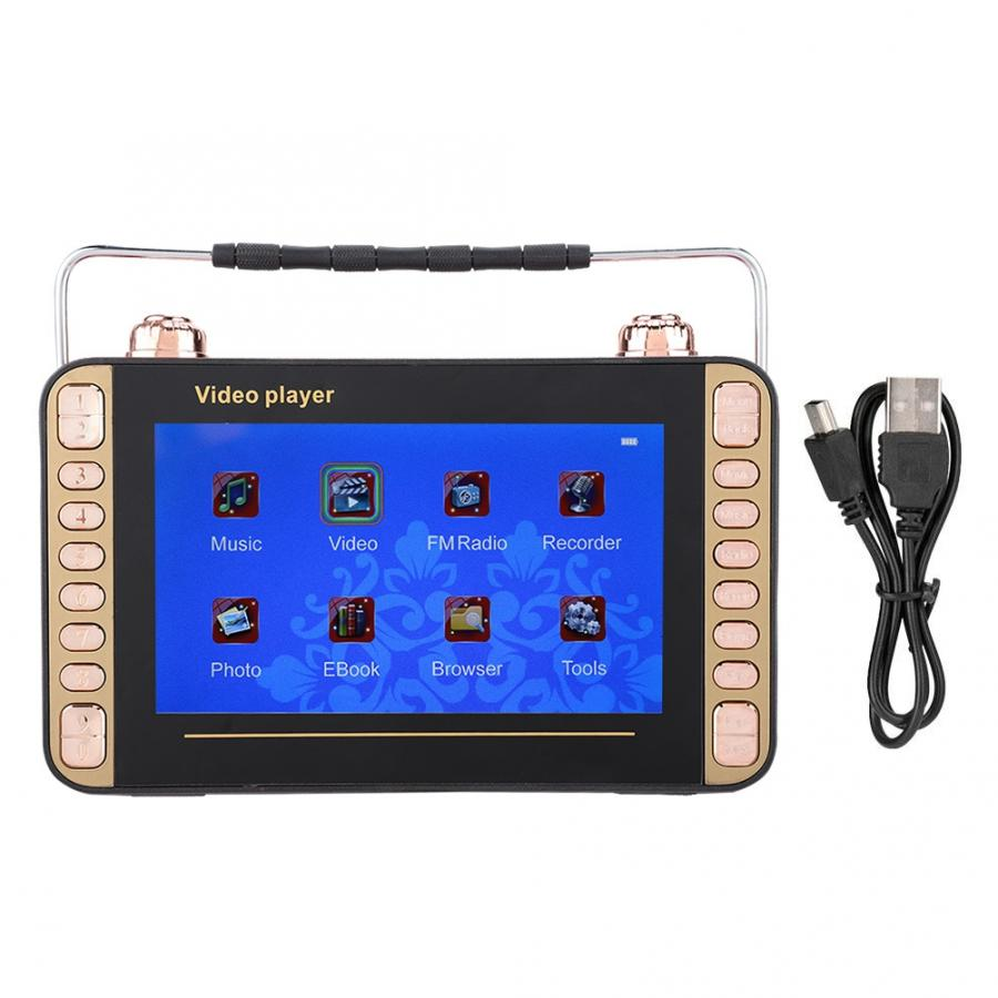 mp3 7in Portable Video Radio Singing Karaoke Machine MP3 DVD Player Speaker Bluetooth Car mp3 player