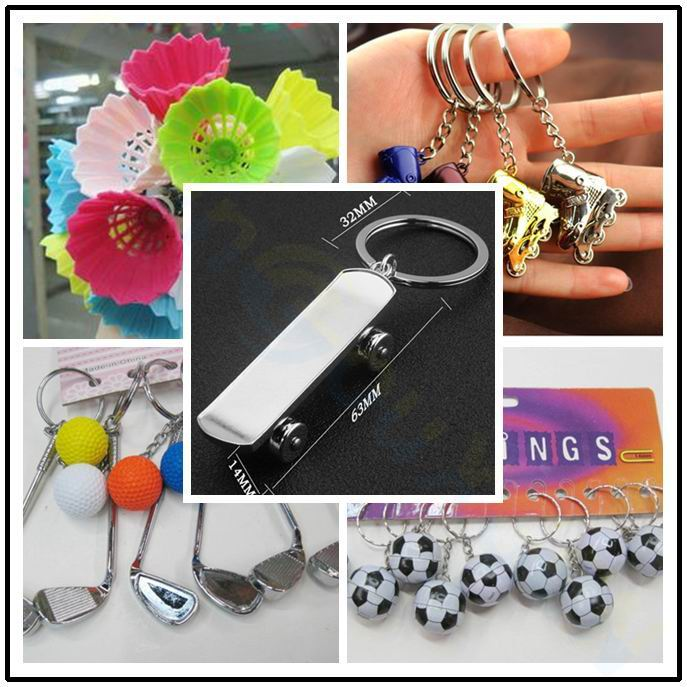 Metal Skateboard Bag Pendant Mini Finger Skateboard Keychain Men Car Key Rings Sports Souvenir Party Favor School Birthday Gifts