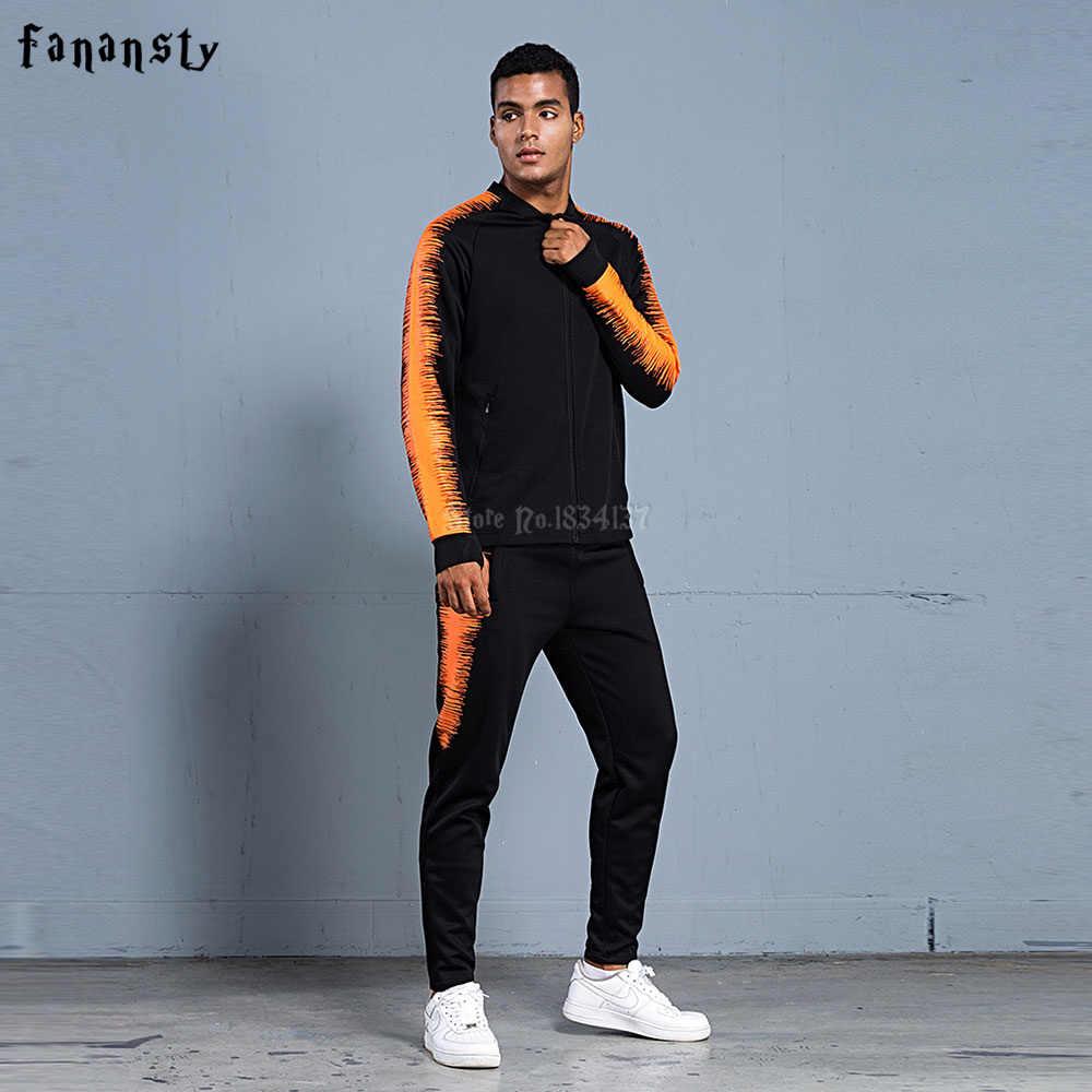 1b7df29bd9b0 ... Для мужчин футбольный костюм 2018 Для мужчин Футбол Обучение куртка  спортивные костюмы для взрослых Униформа на ...